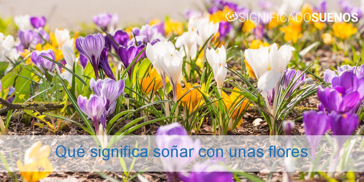 Qué significa soñar con unas flores