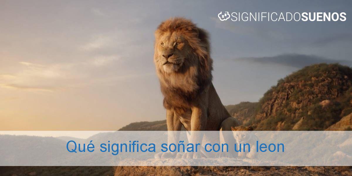 Qué significa soñar con un leon
