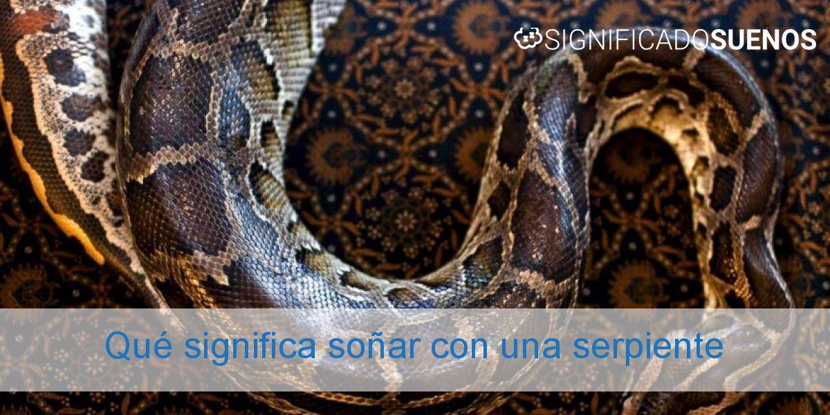 Qué significa soñar con una serpiente